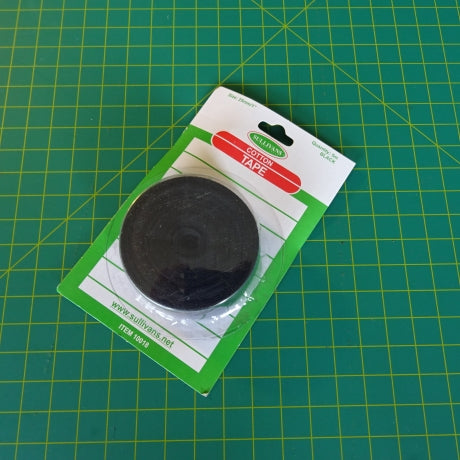 Cotton Tape 25mm - BLACK