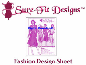 Fashion Design Sheet - Digital Download