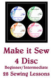 Make it Sew – Beginners Series  -  Set of Four DVDs