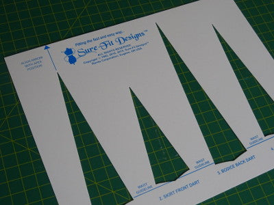 Fitting Pattern Dress Waist Darts Template