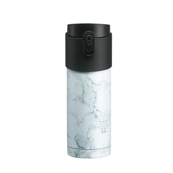 Pao Thermo Mug White Marble/Black Lid