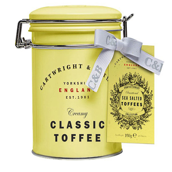 Salted Caramel Toffee in tin