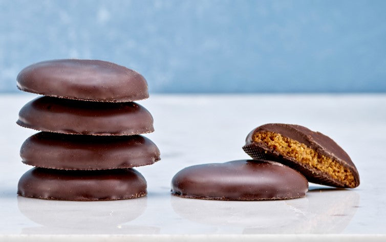 Ultra Thick Dark Chocolate Ginger Biscuits