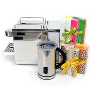 Combo ECM Stainless Steel (Machine + 100 Capsules + Milk Frother)