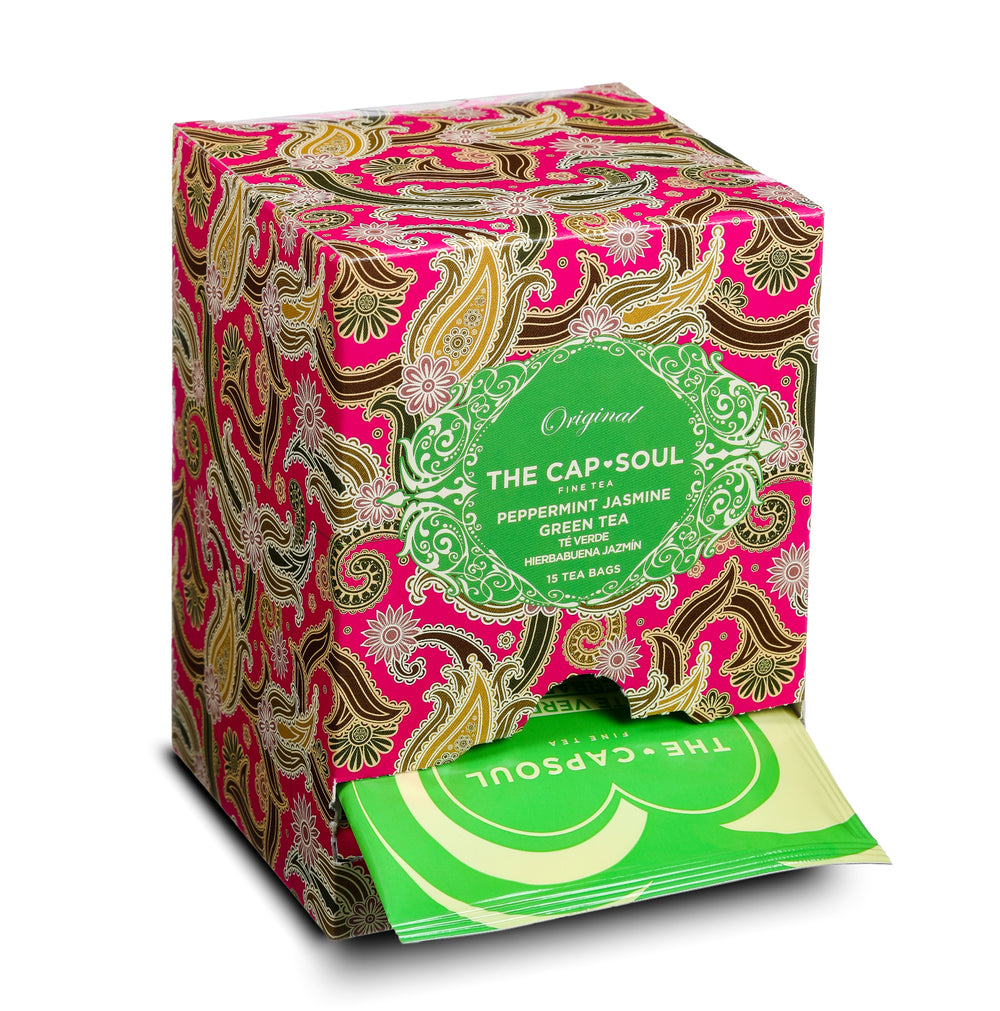 Peppermint Jasmine Green Tea Pyramids