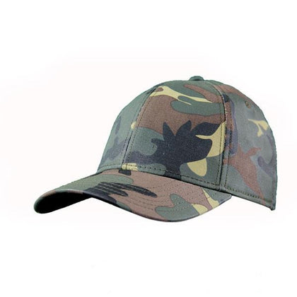 Camo Fitted 6 Panel Cap,  - GetCapped - Personalised and custom embroidered caps
