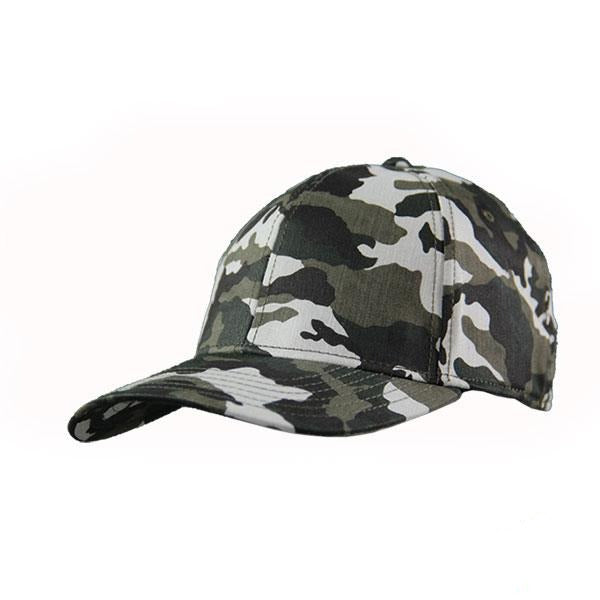 Camo Fitted 6 Panel Cap
