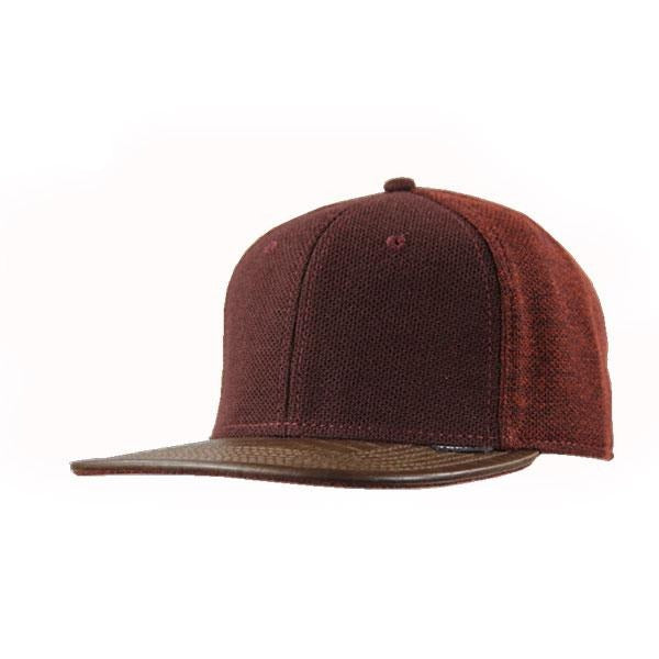 Melton Two Tone Flat Peak Cap