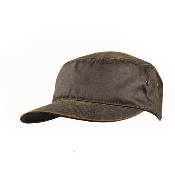 Oil Skin Army Cap