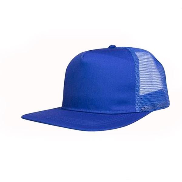 Retail 5 Panel Flat Peak Trucker Cap