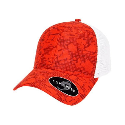 Top Speed Pixel Snap Back Trucker Cap,  - GetCapped - Personalised and custom embroidered caps