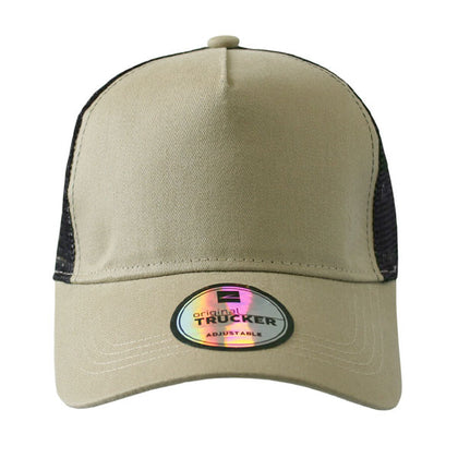 Promo Trucker 5 Panel Curved Peak Cap,  - GetCapped - Personalised and custom embroidered caps