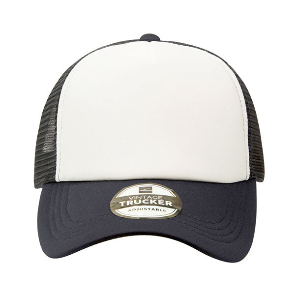 Vintage Two Tone 5 Panel Trucker Cap