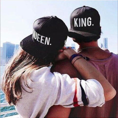 King and Queen Snap Back Cap Set - FREE SHIPPING