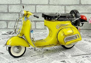Italian Vespa Metal Motorcycle Model  - Red/Yellow Scale 1:12
