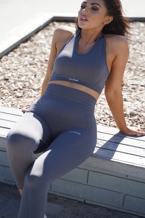 Motion Seamless Leggings - Shadow Grey - NowFLEX