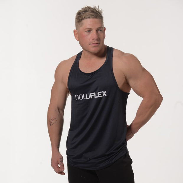 Flex Singlet T-Bar - Navy Blue