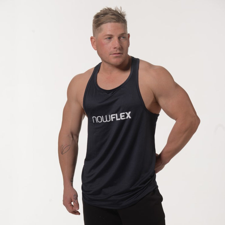 Flex Singlet T-Bar - Navy Blue - NowFLEX