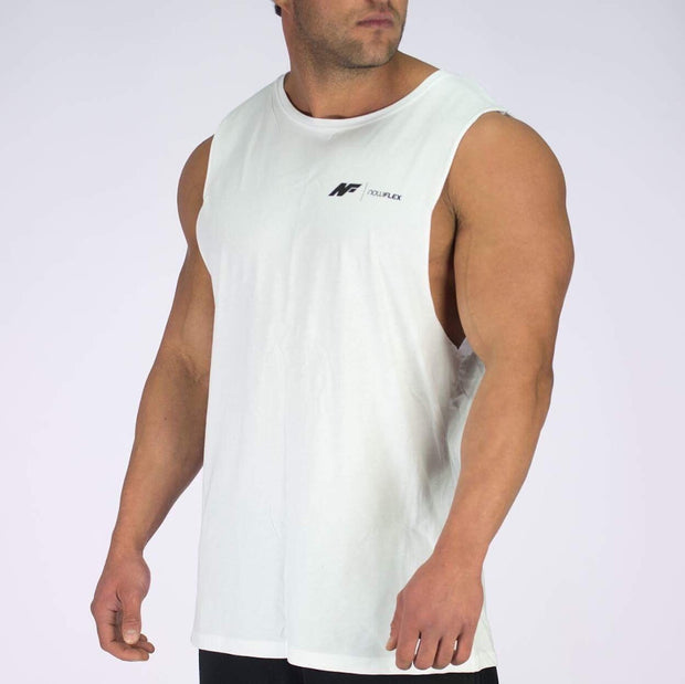 Essential Muscle Tank - White - NowFLEX