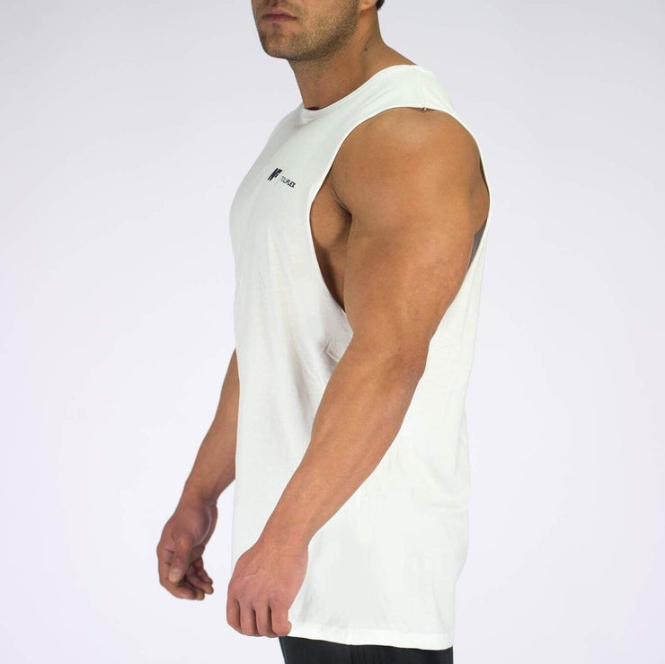 Essential Muscle Tank - White