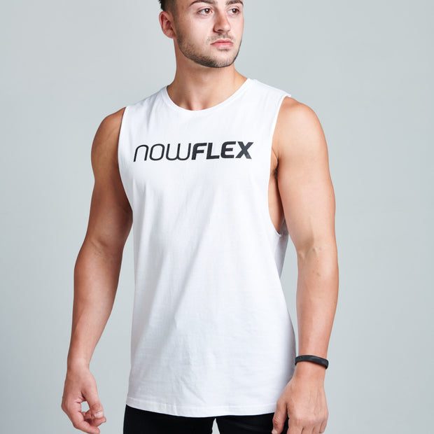 Flex Muscle Tank - Polar White - NowFLEX