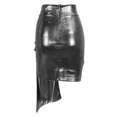 Weekend Wonder Silver Mini Skirt - Fashion Genie Boutique