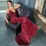 Love On Me Burgundy Sequin Maxi Party Gown Dress - Fashion Genie Boutique USA Alt