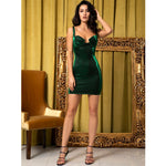 Nova Green Metallic Mini Dress