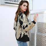 No Goodbyes Black & Gold Sequin Jacket - Fashion Genie Boutique