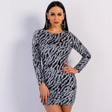 Slay All Day Silver Sequin Long Sleeve Mini Dress - Fashion Genie Boutique
