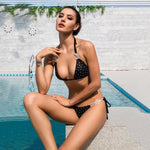 Bahamas Vacay Black Crystal Embellished Bikini Swimsuit - Fashion Genie Boutique
