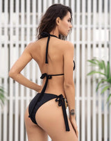 Luminere Black Crystal Embellished Bikini Swimsuit - Fashion Genie Boutique