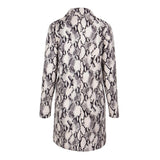 Take It Easy Grey Snake Print Jacket