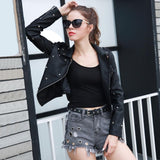Moon and Stars Black Faux Leather Embellished Jacket - Fashion Genie Boutique