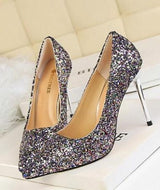 Till the Glitter Ends Multi High Heels - Fashion Genie Boutique USA Alt