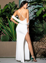 Made In Heaven White Bardot Maxi Dress - Fashion Genie Boutique