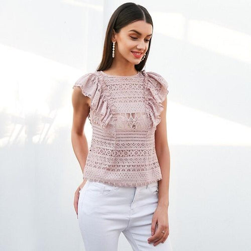 Killing It Pink Frill Top - Fashion Genie Boutique