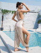 Lady Killer Nude Cut Out Jumpsuit - Fashion Genie Boutique USA Alt