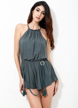 Extracurricular Green Tassel Romper - Fashion Genie Boutique USA Alt
