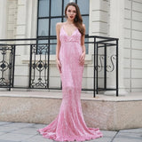 Prima Donna Pink Sequin Fishtail Maxi Dress - Fashion Genie Boutique USA Alt