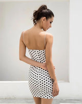 Dotty About You Black & White Polka Dot Mini Dress - Fashion Genie Boutique