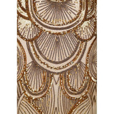 Great Gatsby Gold Art Deco Sequin Maxi Gown Dress - Fashion Genie Boutique