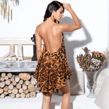 Misunderstood Brown Animal Print Mini Dress - Fashion Genie Boutique