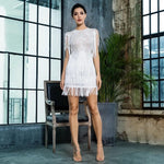 Flaunt It White Fringe Lace Mini Dress - Fashion Genie Boutique