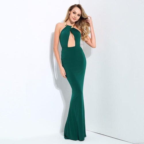 Perfectly Yours Green Maxi Dress - Fashion Genie Boutique USA Alt