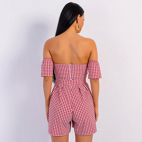 a5ea7611e73 In Pursuit Of The Playsuit Red Bardot Playsuit - Fashion Genie Boutique