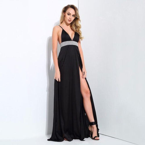 Spell Bound Black Maxi Dress - Fashion Genie Boutique