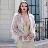 Fabulous Luxor Cream Faux Fur Jacket - Fashion Genie Boutique USA Alt