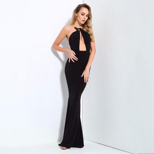 Perfectly Yours Black Maxi Dress - Fashion Genie Boutique USA Alt
