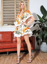 Floral Power White Floral Cut Out Mini Dress